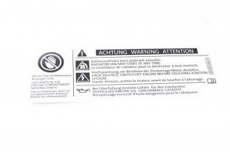 GENUINE OEM VW Beetle Golf Front Panel Warning Sticker 701010690B 701010002A